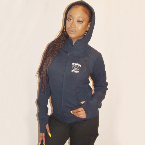 LADIES ZIPPER HIGH NECK HOODY